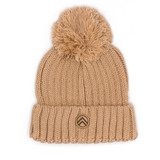 Sky Outfitters Pom - Pom Beanie - Champagne - Front