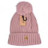 Sky Outfitters Pom - Pom Beanie - Rose - Front