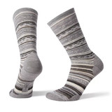 Smartwool Women's Ethno Graphic Crew Socks - Light Gray / Black - Dual