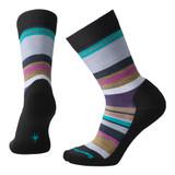 Smartwool Women's Saturnsphere Sock - Black / Meadow Mauve - SW0SW725-A61