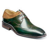 Stacy Adams Men's Hewlett Wingtip Oxford - Olive Multi - 25314-302 - Angle