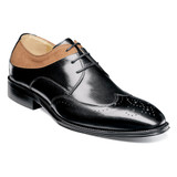 Stacy Adams Men's Hewlett Wingtip Oxford - Tan / Black - 25314-988 - Angle