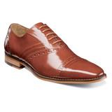 Stacy Adams Men's Talford Cap Toe Oxford - Cognac - 25293-221 - Angle