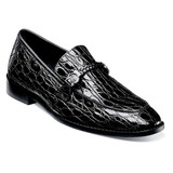 Stacy Adams Men's Bellucci Leather Sole Moc Toe Bit Slip-On - Black - 25322-001 - Angle