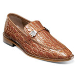 Stacy Adams Men's Bellucci Leather Sole Moc Toe Bit Slip-On - Cognac - 25322-221 - Angle