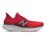New Balance 1080v10 Men's Fresh Foam Running - Neo Crimson with Neo Flame & Black - M1080R10 - Profile