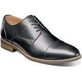 Florsheim Men's Uptown Cap Toe Oxford - Black - 15166-001 - Angle