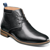 Florsheim Men's Uptown Plain Toe Chukka Boot - Black - Angle