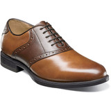 Florsheim Men's Midtown Plain Toe Saddle Oxford - Cognac Multi - 12158-229 - Angle