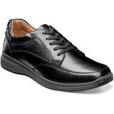 Florsheim Men's Great Lakes Moc Toe Walk - Black Tumbled - Profile Pic