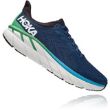 HOKA ONE ONE Men's Clifton 7 (Wide Width) - Moonlit Ocean / Anthracite - 1110534-MOAN - Angle