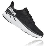 HOKA ONE ONE Women's Clifton 7 (Wide Width) - Black with White - 1110535-BWHT - Profile
