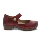 Dansko Women's Beatrice - Red Waxy Burnished - 9423-227800 - Profile 1