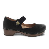 Dansko Women's Beatrice - Black Burnished Nubuck - 9423-477800 - Profile 1