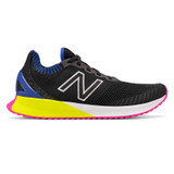 New Balance Men's FuelCell Echo - Black with UV Blue & Sulphur Yellow - MFCECSB - Profile