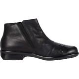 Naot Women's Matagi Boot - Black Leather / Glass Brown - Profile