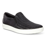 ECCO Women's Soft 7 Woven Slip-on - Black - Angle