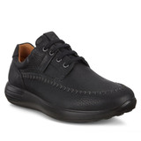Ecco Men's Soft 7 Runner Seawalker Sneaker - Black - Angle