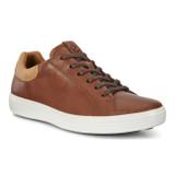 Ecco Men's Soft 7 Street Sneaker - Mahogany / Lion - Angle