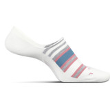 Feetures Women's No Show Hidden Stripe Socks - Natural - Profile