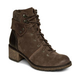 Aetrex Aubry Arch Support Weatherproof Lace Up Boot - Dark Taupe - Angle