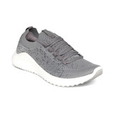 Aetrex Women's Carly Arch Support Sneaker - Gray - Angle