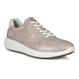 ECCO Women's Soft 7 Runner Sneakers - Grey Rose Metallic / Shadow White - 460613-52050 - Angle