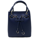 Sondra Roberts Mini Bucket Crossbody - Blue - Front
