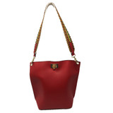 Sondra Roberts Pebble Bucket Handbag - Red - Front