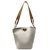 Sondra Roberts Pebble Bucket Handbag - White - Front