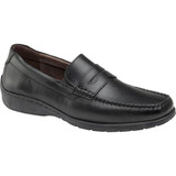 Johnston & Murphy Men's Crawford Penny Loafer - Black - Angle