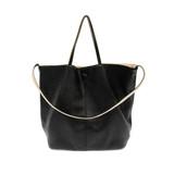 Joy Susan Riley Reversible Slouchy Hobo Handbag - Black - Profile