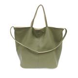 Joy Susan Riley Reversible Slouchy Hobo Handbag - Light Olive - Profile