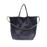 Joy Susan Riley Reversible Slouchy Hobo Handbag - Navy - Profile