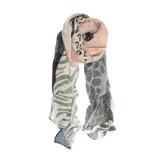 Joy Susan Animal Safari Scarf - Pink - Profile