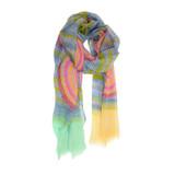 Joy Susan Spiro Stripe Scarf - Fuchsia - Profile