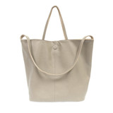 Joy Susan Riley Reversible Slouchy Hobo Handbag - Light Grey - Profile 2