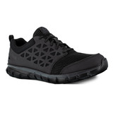 Reebok Men's Sublite Cushion Athletic Work Shoe - Black - RB4035 - Angle
