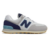New Balance Men's 574 Core Plus - Rain Cloud with Pigment & Bali Blue - ML574SOU - Profile