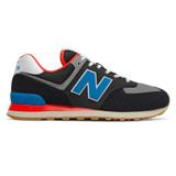 New Balance Men's 574 Core Plus - Black with Neo Classic Blue & Nebula - ML574SOV - Profile
