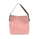Joy Susan Classic Hobo Handbag - Misty Mauve / Coffee - Profile