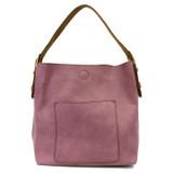 Joy Susan Classic Hobo Handbag - Orchid / Coffee - Profile