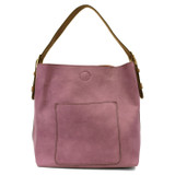 Joy Susan Classic Hobo Handbag - Orchid / Coffee - Profile