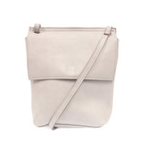 Joy Susan Aimee Front Flap Crossbody - Grey - Profile 2