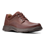 Clarks Men's Un.Brawley Lace - Mahogany Leather - 26151789 - Profile