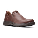 Clarks Men's Un.Brawley Step - Mahogany Leather - 26151784 - Profile