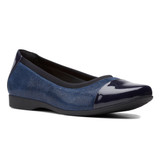 Clarks Women's Un.Darcey Cap 2 - Navy Combination - 26155008 - Profile