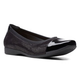 Clarks Women's Un.Darcey Cap 2 - Black Combination - 26155010 - Profile