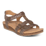 Aetrex Women's Reese Adjustable Gladiator Sandal - Taupe - SC122W - Main
