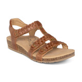 Aetrex Women's Reese Adjustable Gladiator Sandal - Cognac - SC124W - Angle